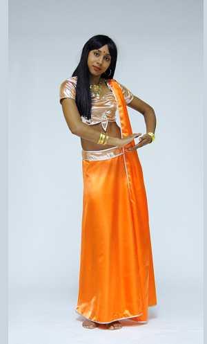 Costume-Sari-orange