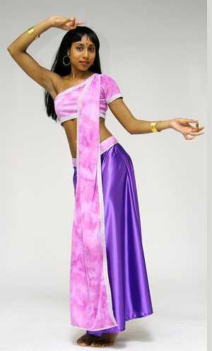 Costume-Sari-violet