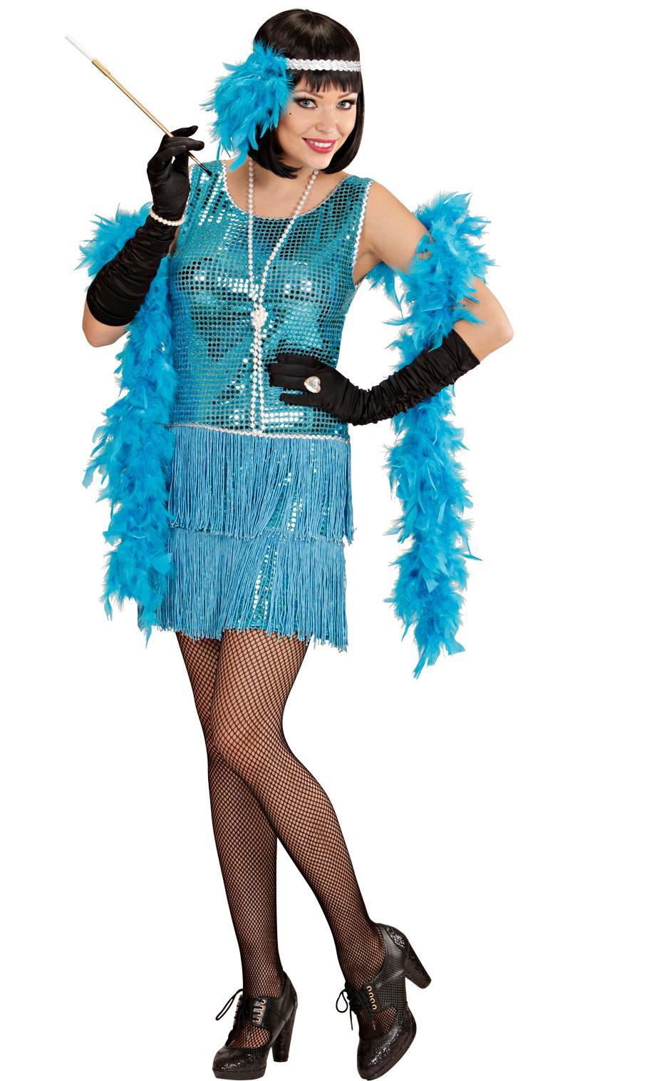 Costume charleston bleue
