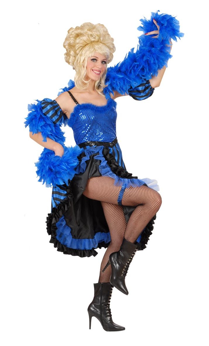 Robe-French-Cancan-Bleu-Femme