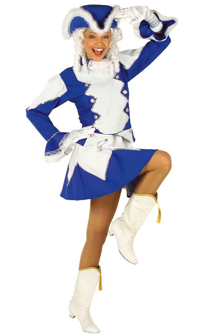 Costume de majorette bleue femme