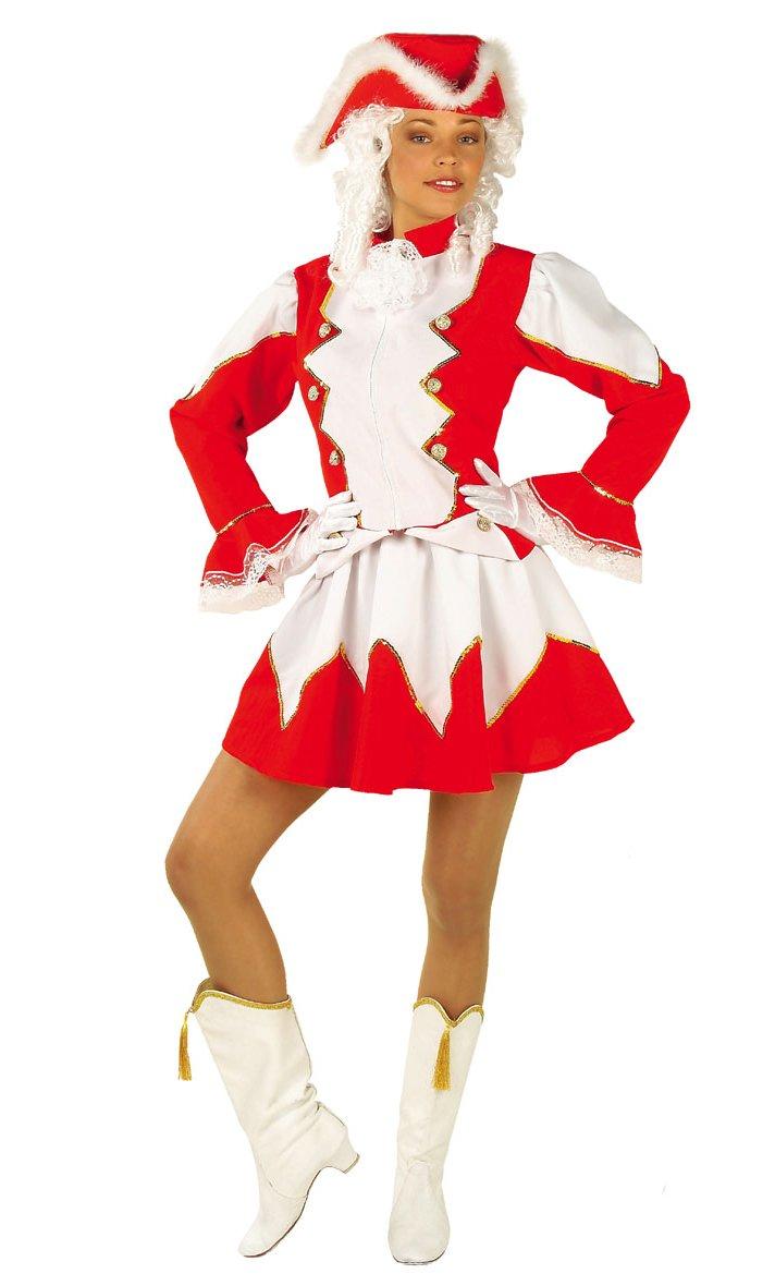 Costume-de-majorette-Femme-Rouge
