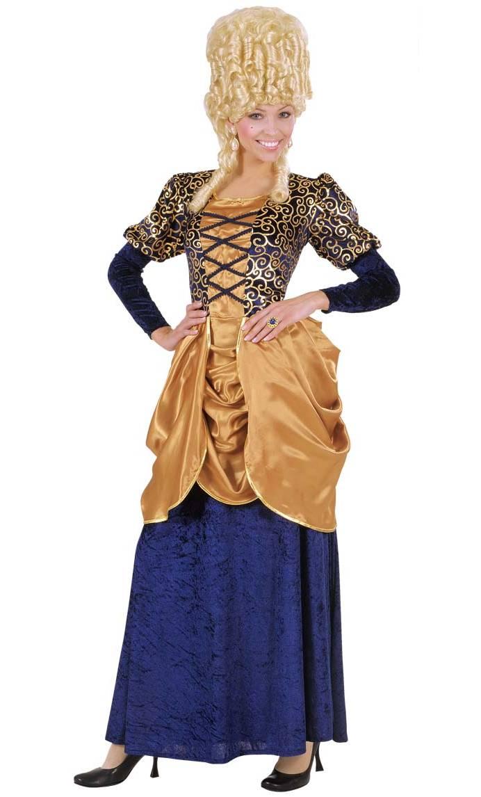 costume de marquise velours bleu v29425. Black Bedroom Furniture Sets. Home Design Ideas