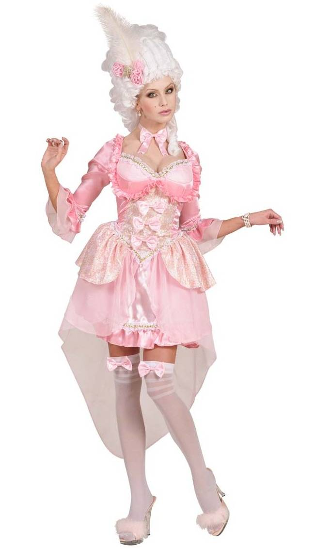 Costume marquise lady pompadour rose v29427 - Robe barbie adulte ...