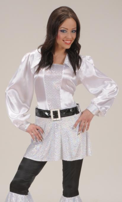 Chemise-Disco-blanche-Femme