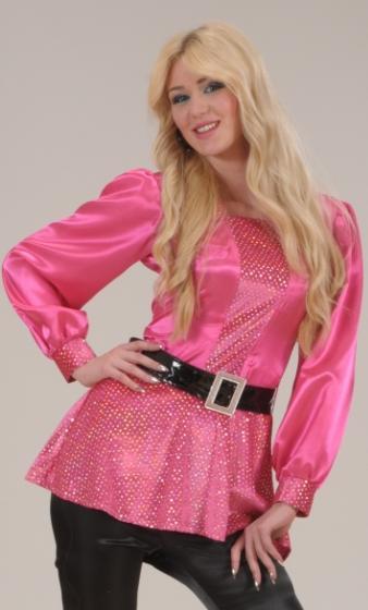 Chemise-Disco-rose-Femme