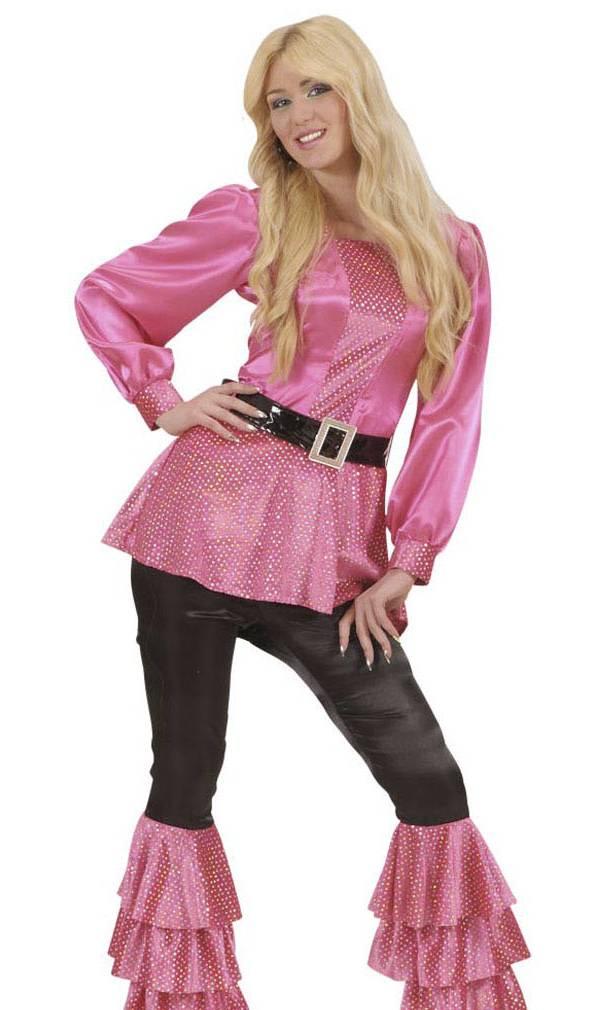 Chemise-Disco-rose-Femme-2