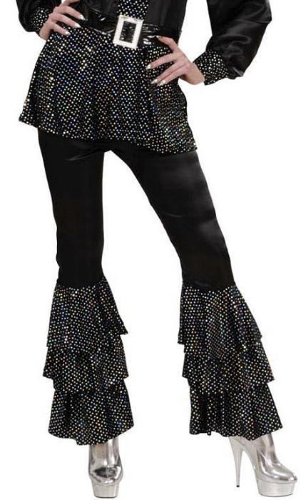 Pantalon-Disco-Femme-noir