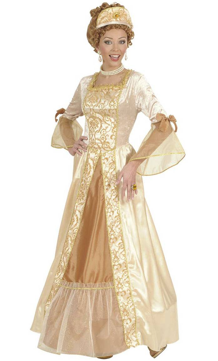 Robe de marquise dorée