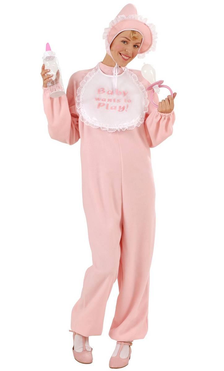Costume-Bébé-rose-Adulte