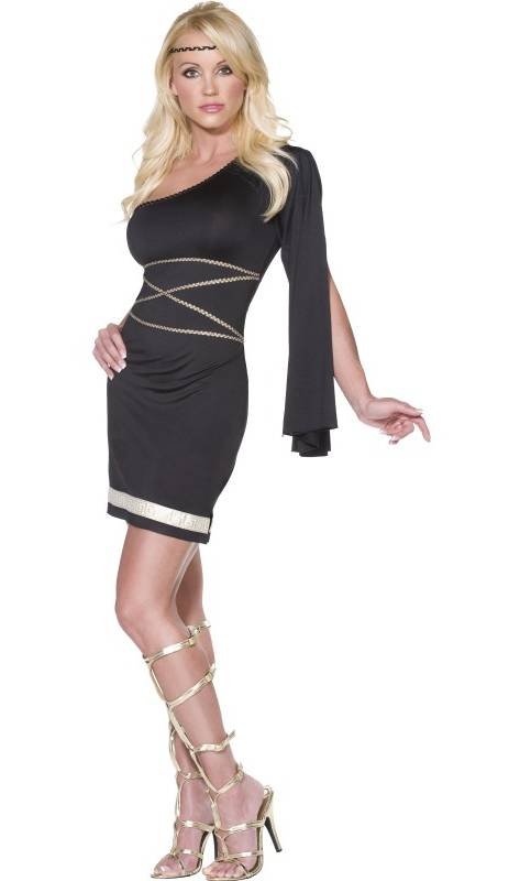 Costume-Déesse-noir-et-or