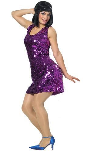 Robe-pailletée-violette