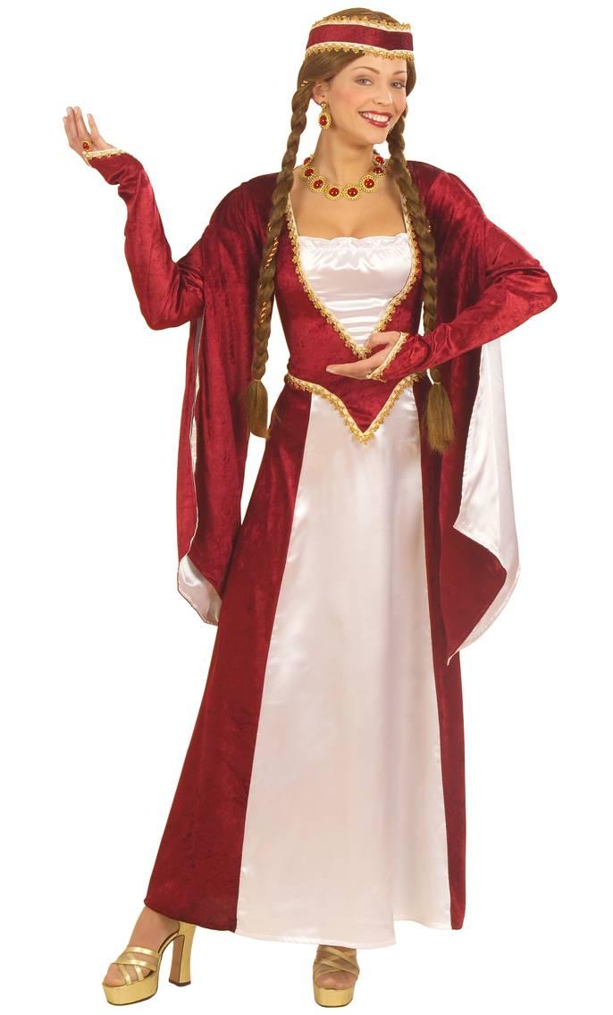 Costume-Renaissance-bordeaux-Grande-Taille-XL-XXL