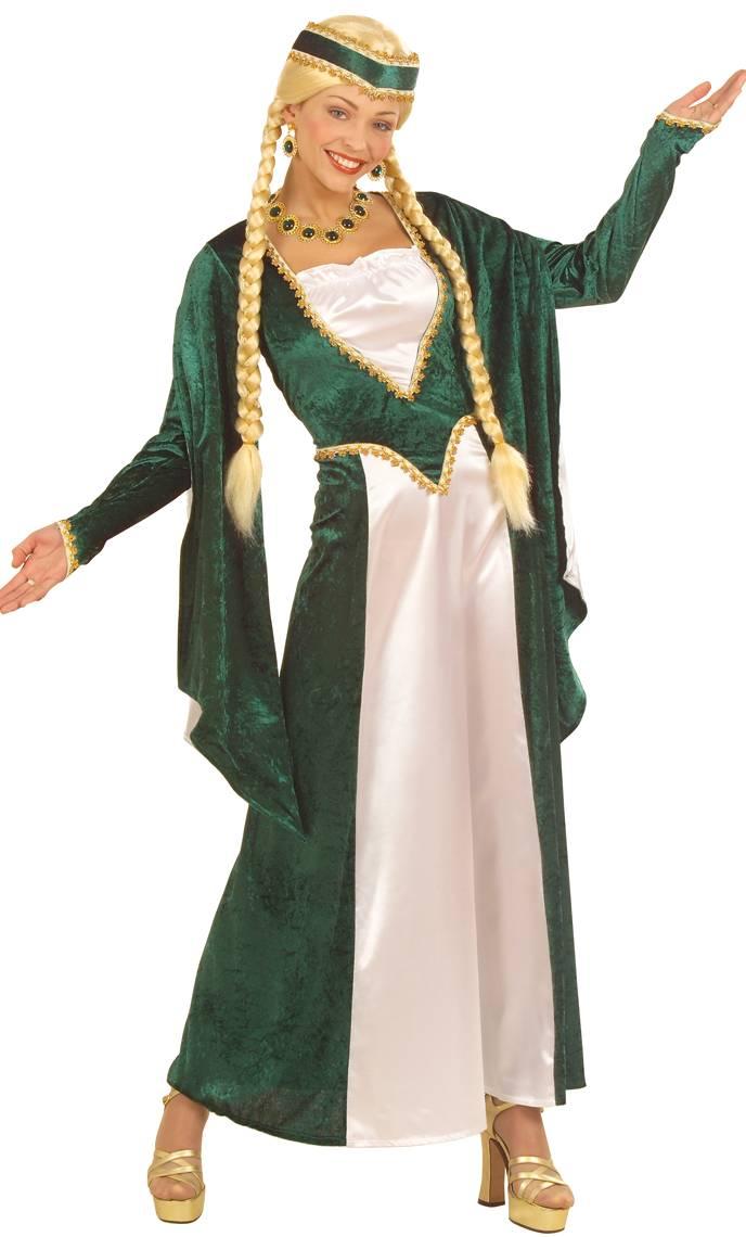 Robe-Renaissance-verte-grande-Taille-XL-XXL