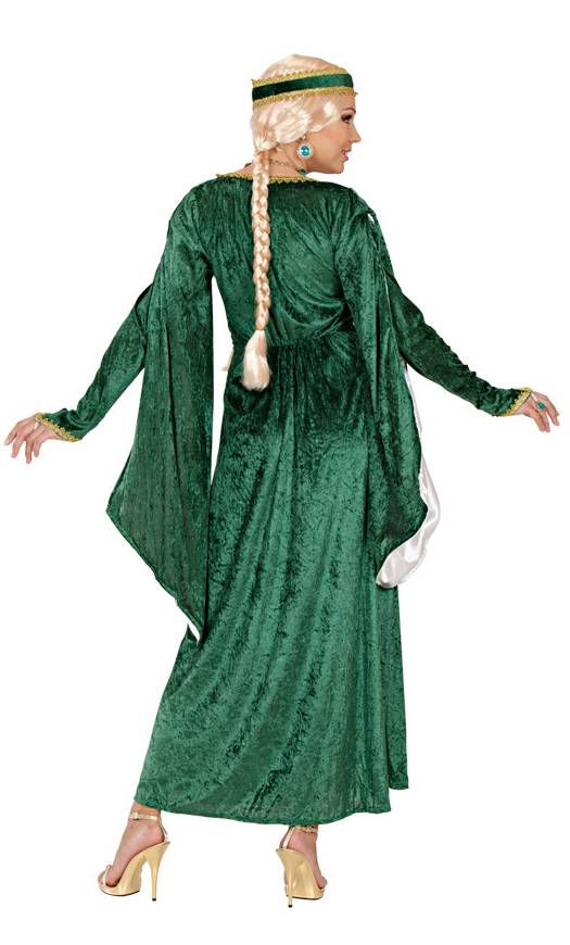 Robe-Renaissance-verte-grande-Taille-XL-XXL-2