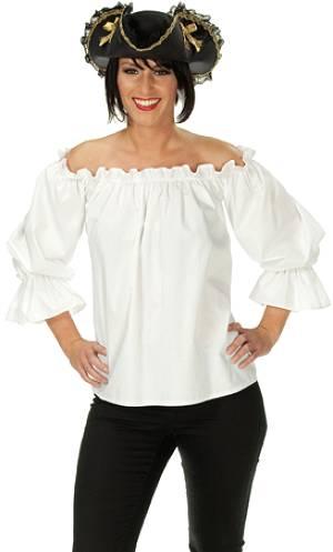 blouse blanche pour femme v29564. Black Bedroom Furniture Sets. Home Design Ideas