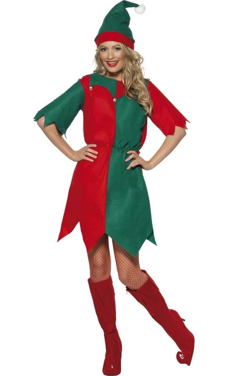 Costume-Lutin-Noël-pas-cher-pour-femme