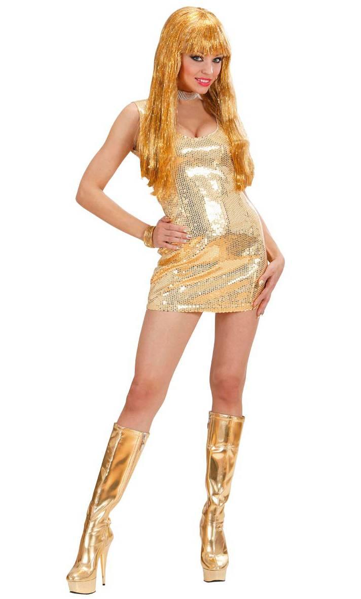 Robe-disco-Or-pour-Femme-2