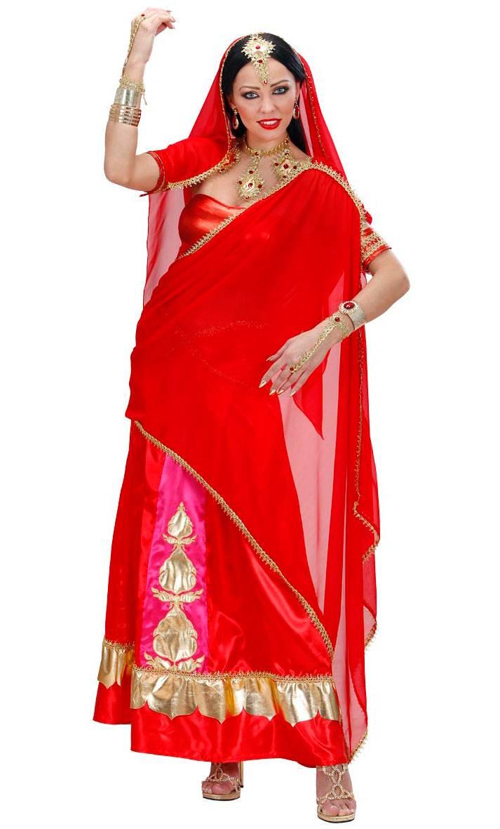 costume sari bollywood rouge v29629. Black Bedroom Furniture Sets. Home Design Ideas