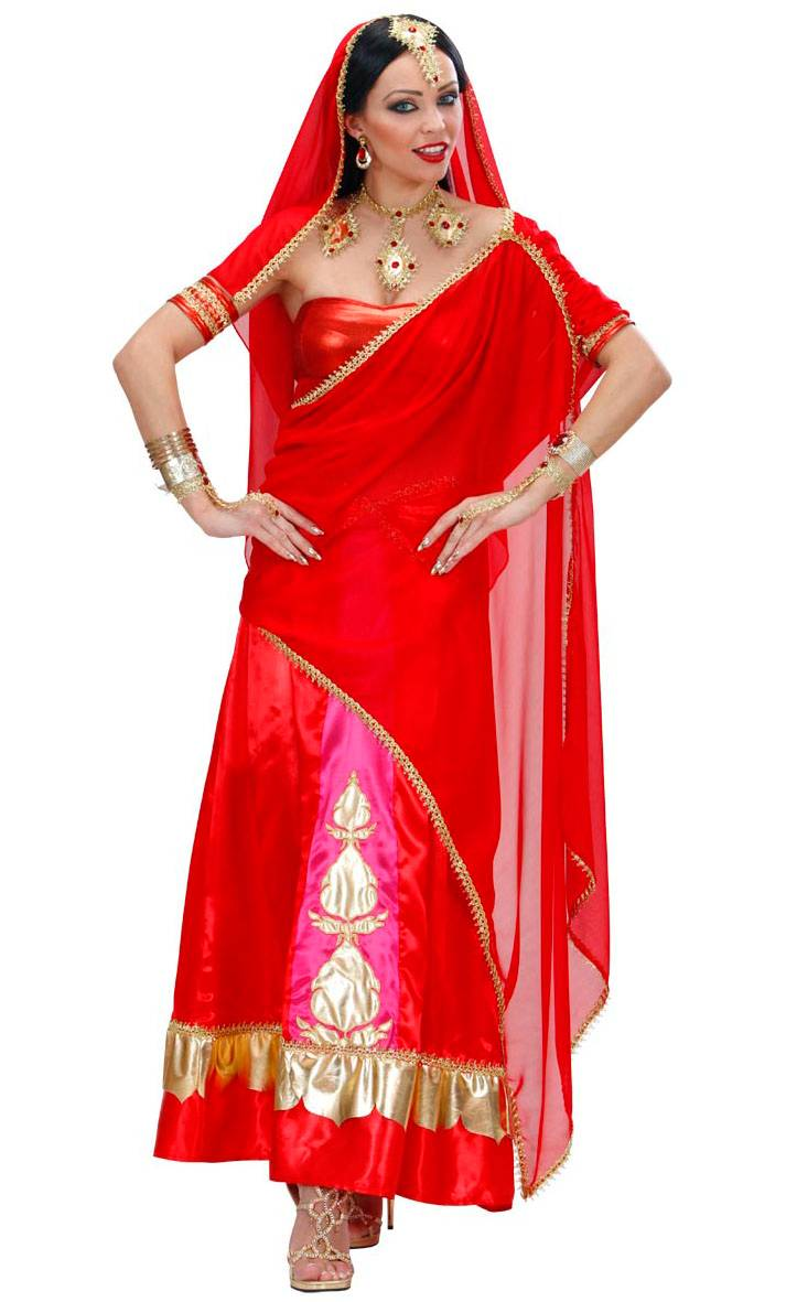 Costume-Sari-Bollywood-Rouge-2