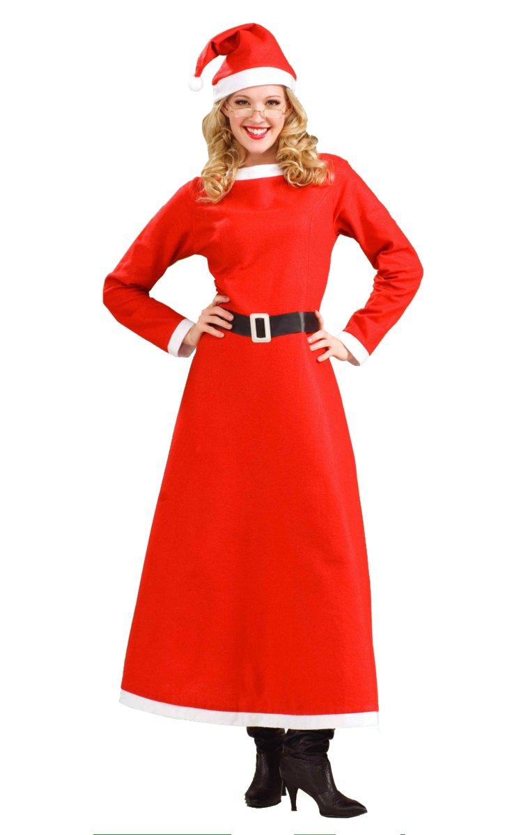 Weihnachtsfrau-Langes-Kleid