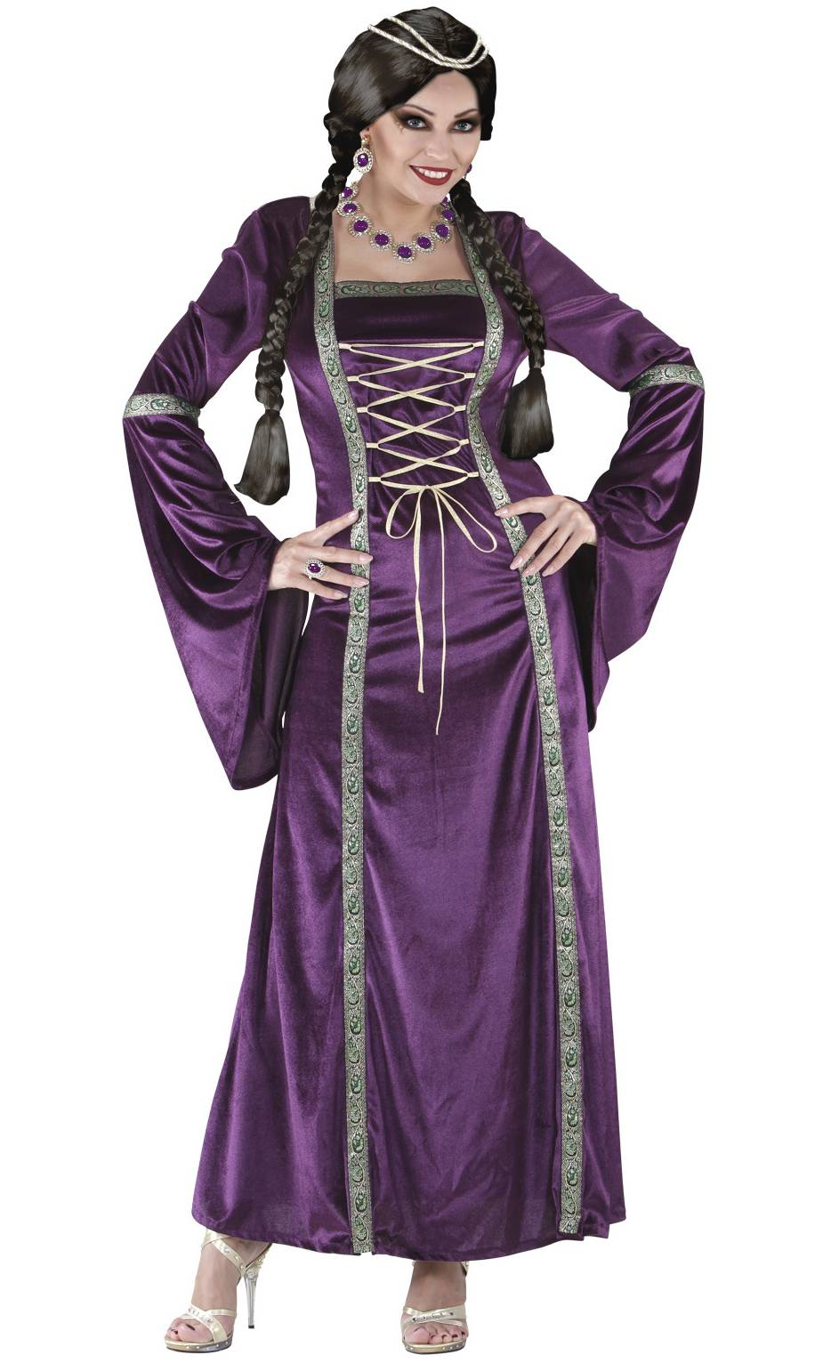 Costume-médiéval-femme-Grande-taille-XL