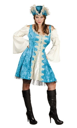 Costume-Pirate-femme-bleue