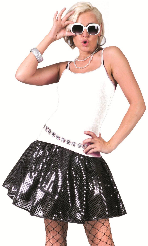 Jupe-disco-paillette-noires