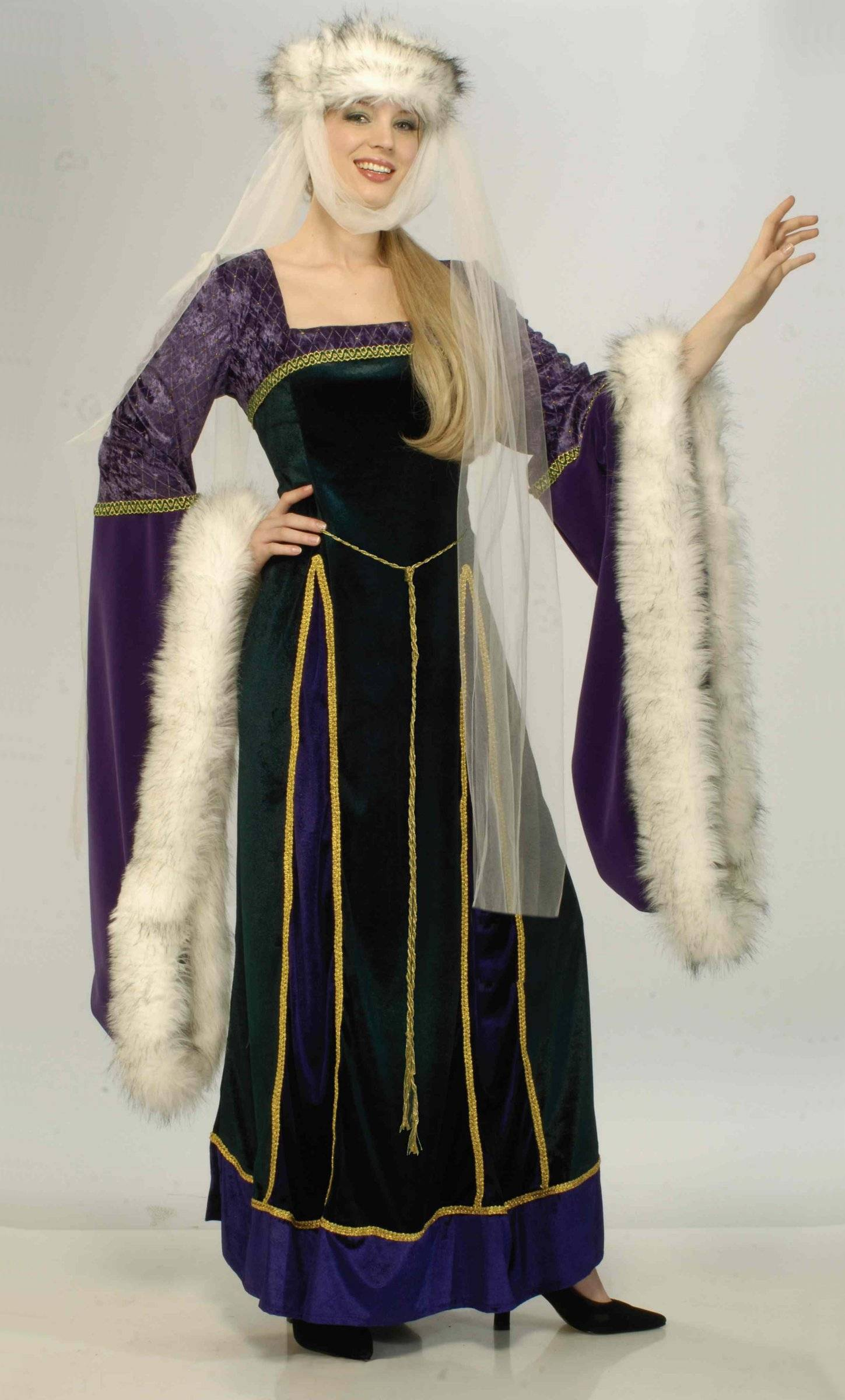 Costume-Médiévale-F37-Grande-Taille-XL