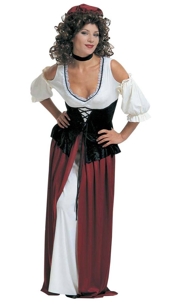 Déguisement-tavernière-médiévale-Taille-XL