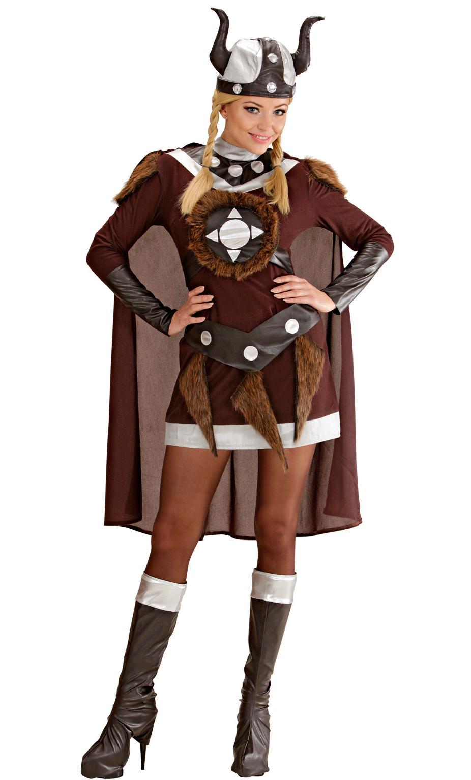 Costume de viking pour femme en grande taille xl