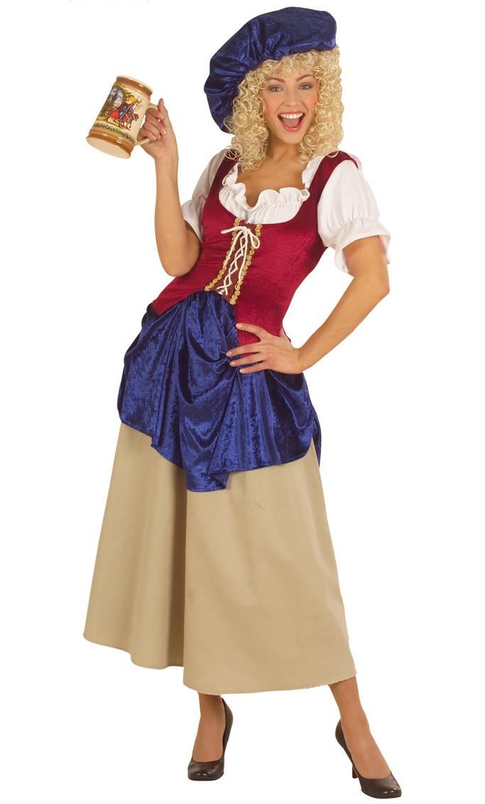 Costume-Paysanne-médiévale-grande-taille