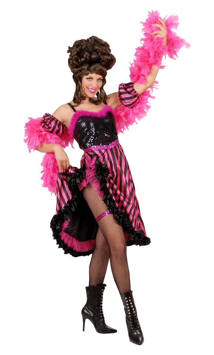 Robe-de-French-Cancan-Rose-Grande-Taille