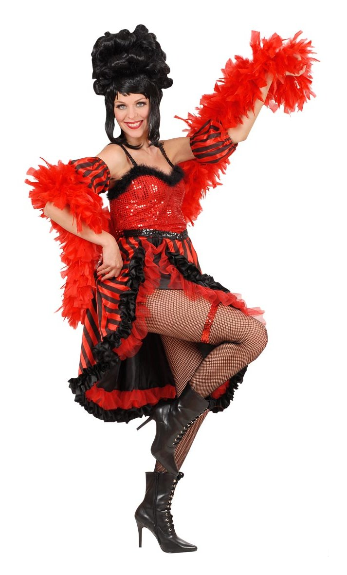 Costume-Cancan-Rouge-Grande-Taille-XL