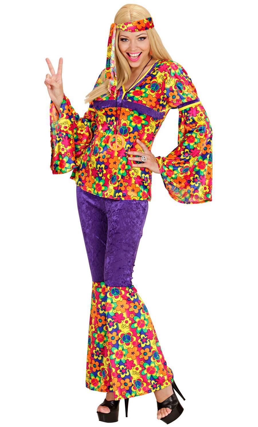 Costume hippie pour femme en grande taille xl