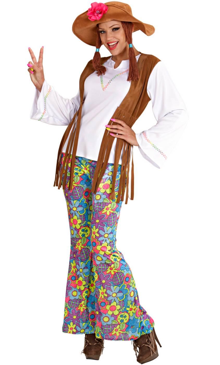 Costume de hippie en grande taille pour femme