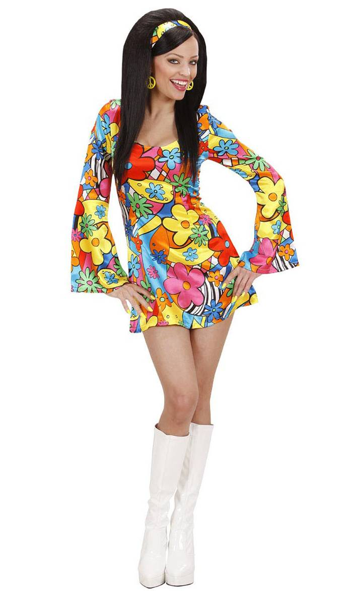 Robe-Hippie-Flowers-Grande-Taille-XL
