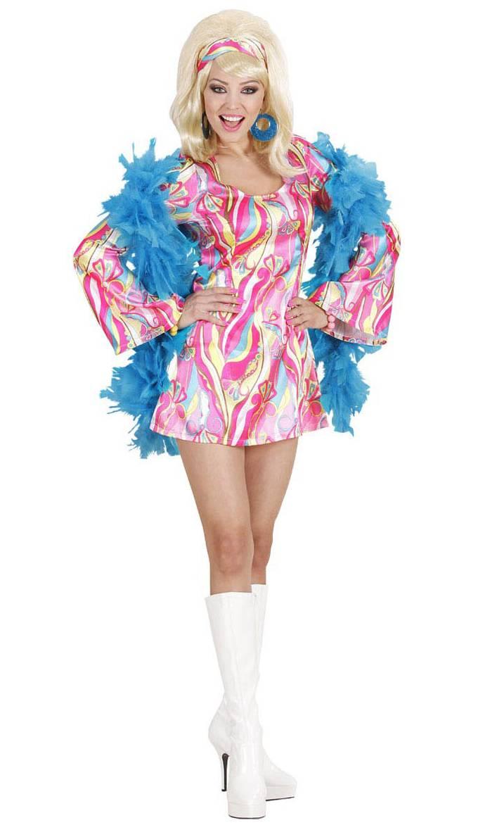 Mini-robe-70s-Rose-Grande-Taille-XL