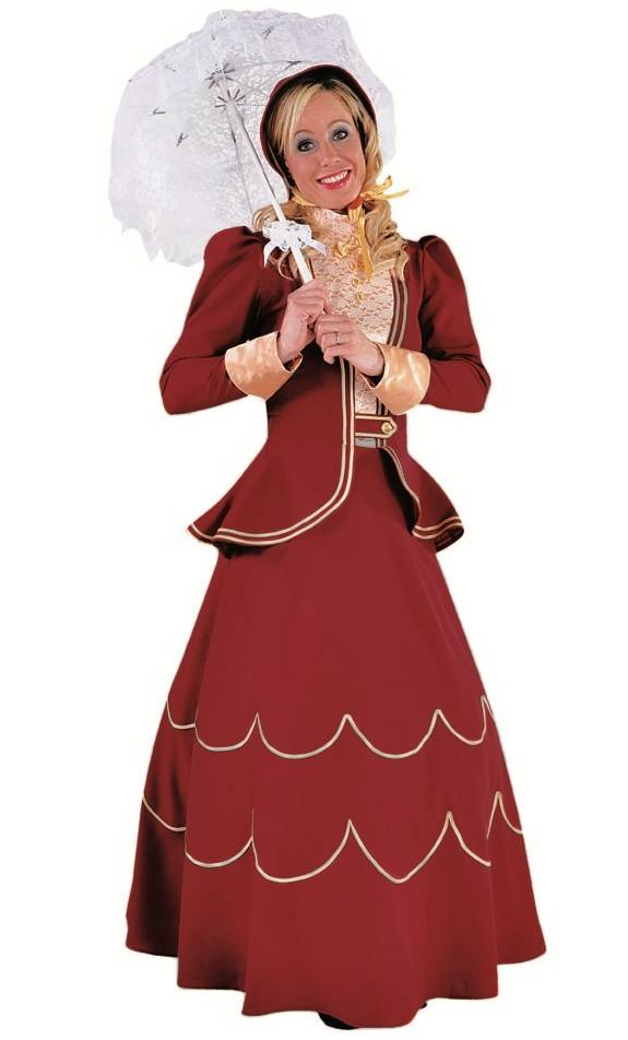 Costume de femme victorienne en grande taille