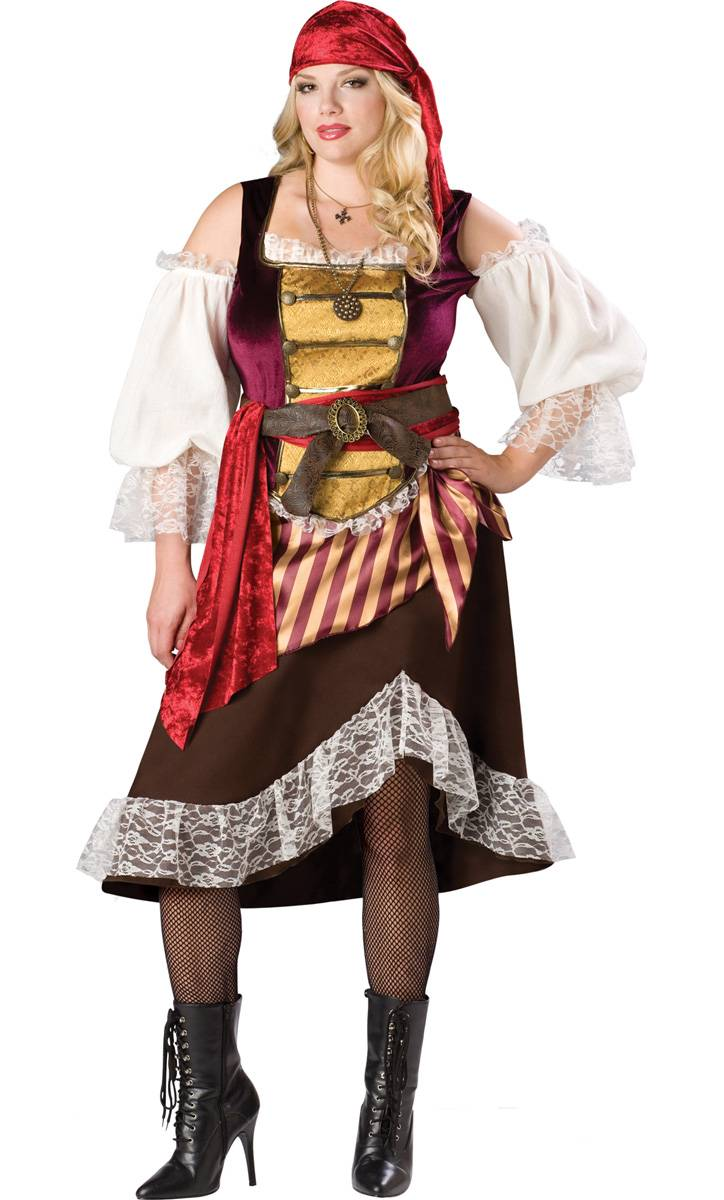Taille Xxl Pirate Femme costume Grande Costume F32 Xxl KlFJT1c