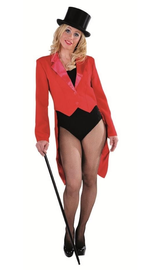 Veste queue de pie rouge femme