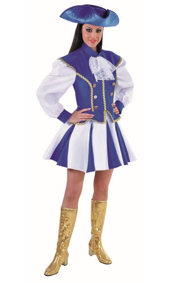 Costume majorette bleue-grande taille