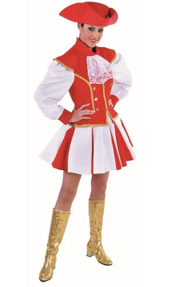 Costume majorette rouge-grande taille