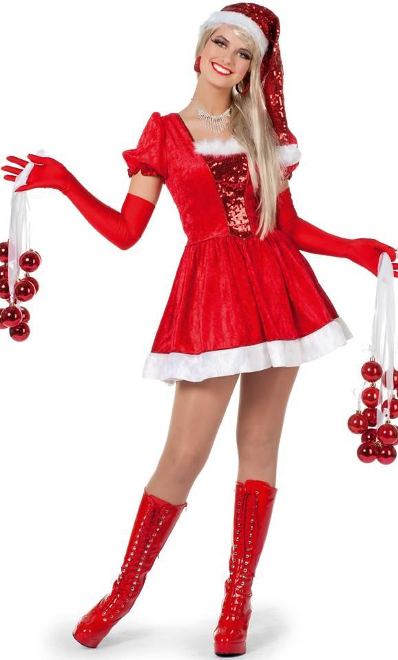 Costume-de-mère-Noël-avec-paillettes
