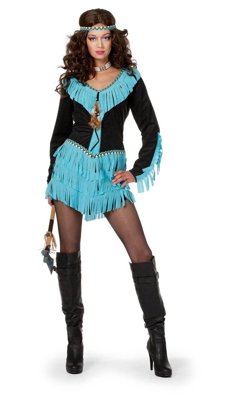 Costume-Indienne-Femme-noir-et-bleu