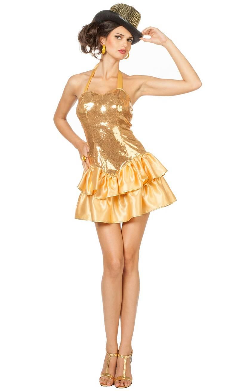 Costume-Robe-dorée-Cabaret