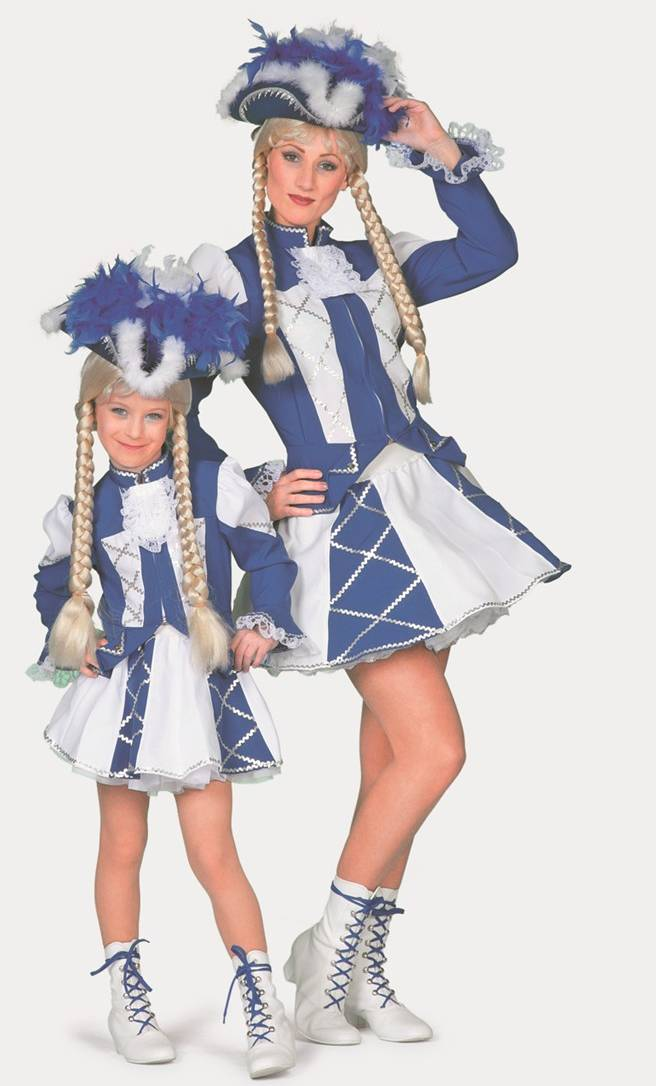 Costume-Majorette-Femme-bleue-Grande-Taille