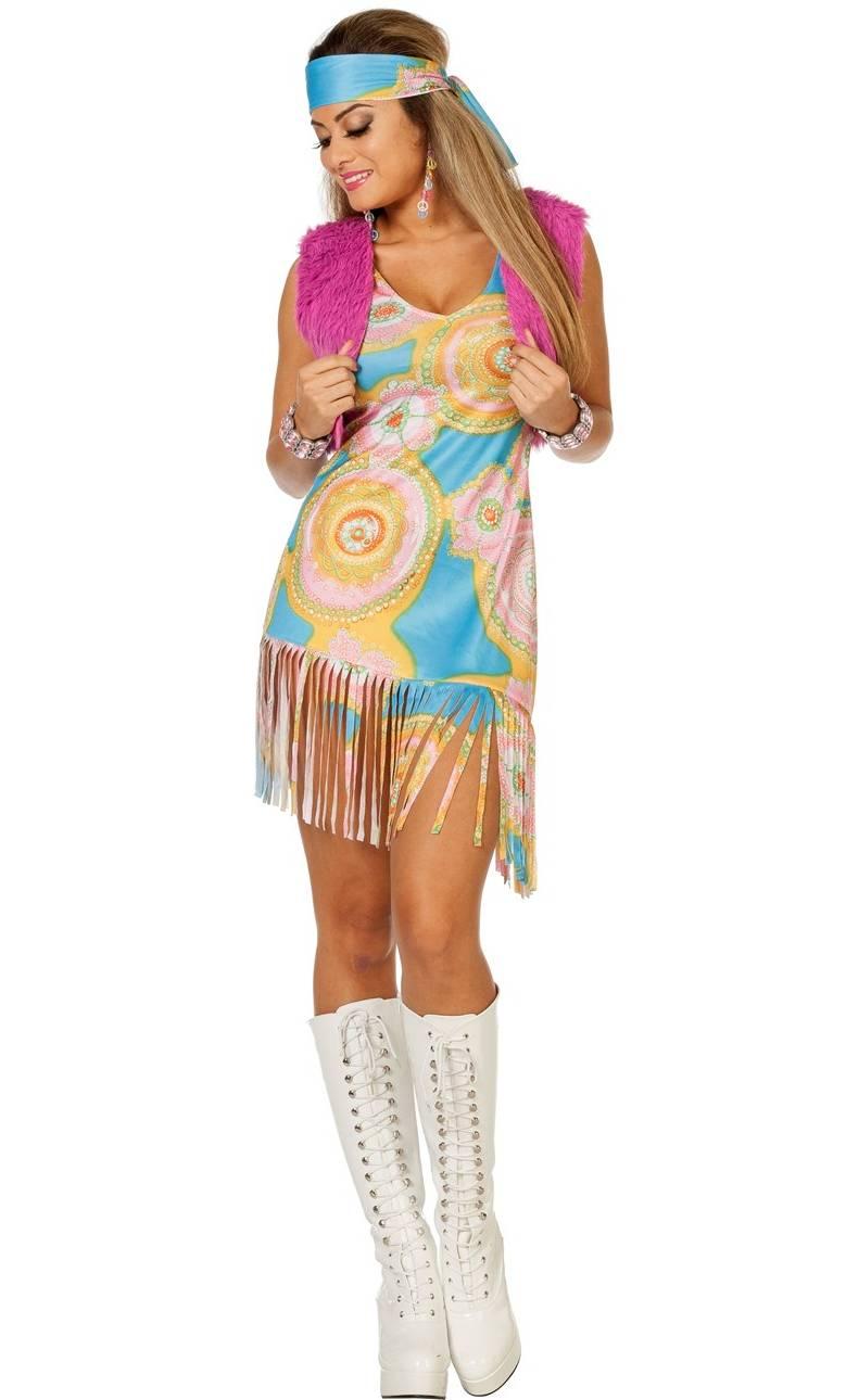 Robe-Hippie-Flowers-en-grande-taille