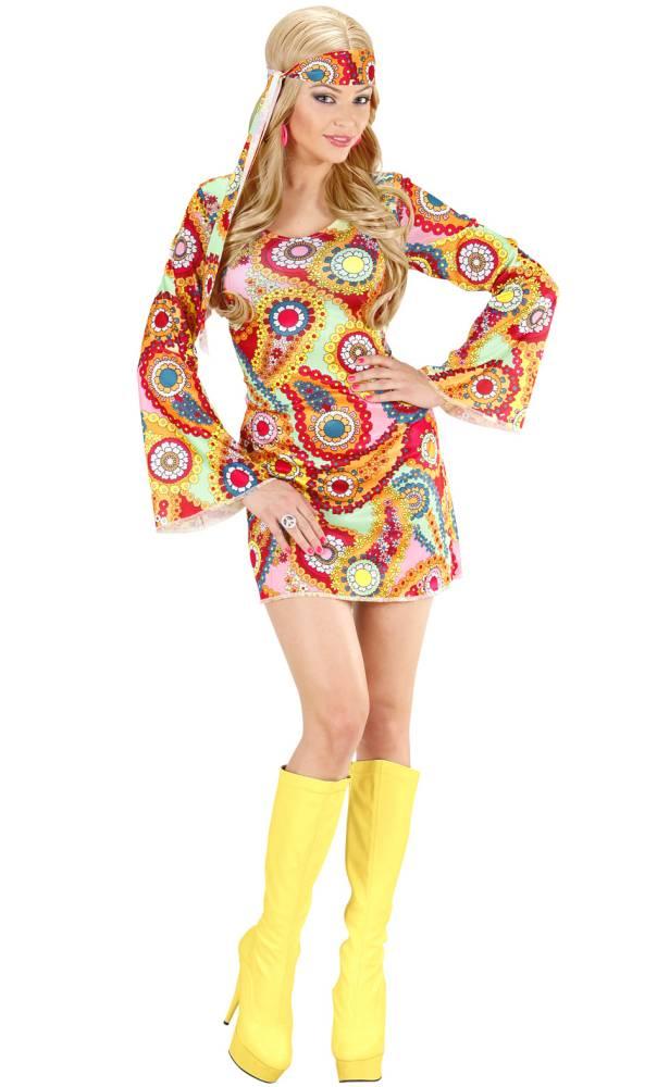 Costume-Hippie-flowers-pour-femme-en-grande-taille-XL