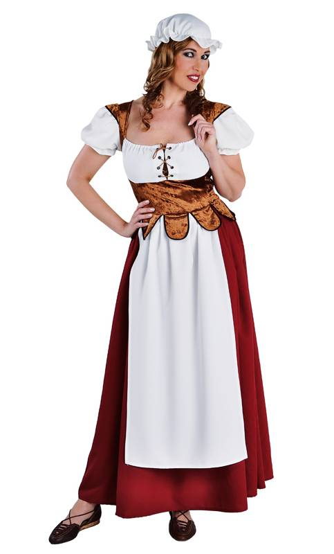 Costume paysanne mediévale grande taille xl-xxl